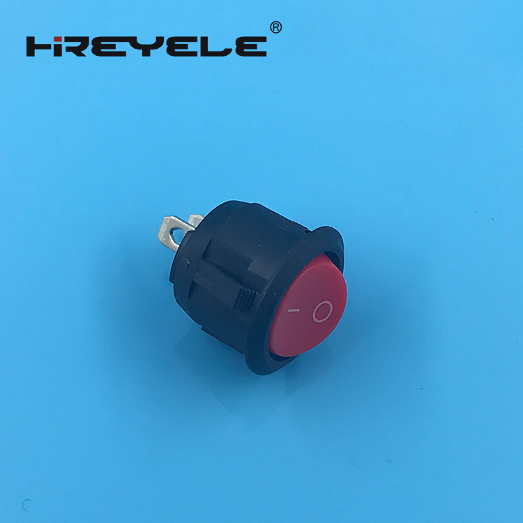 on off miniature 12V round rocker switch