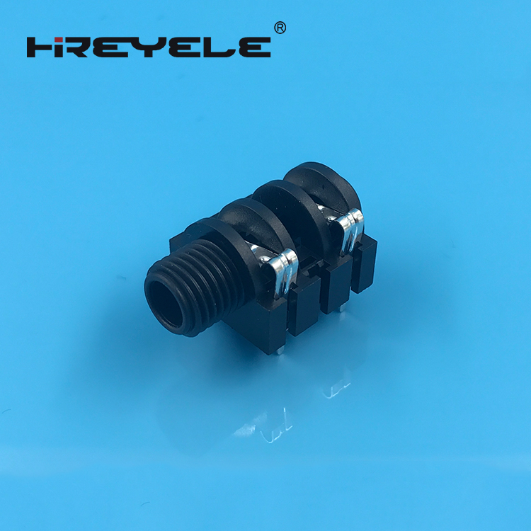 6.35mm stereo jack socket