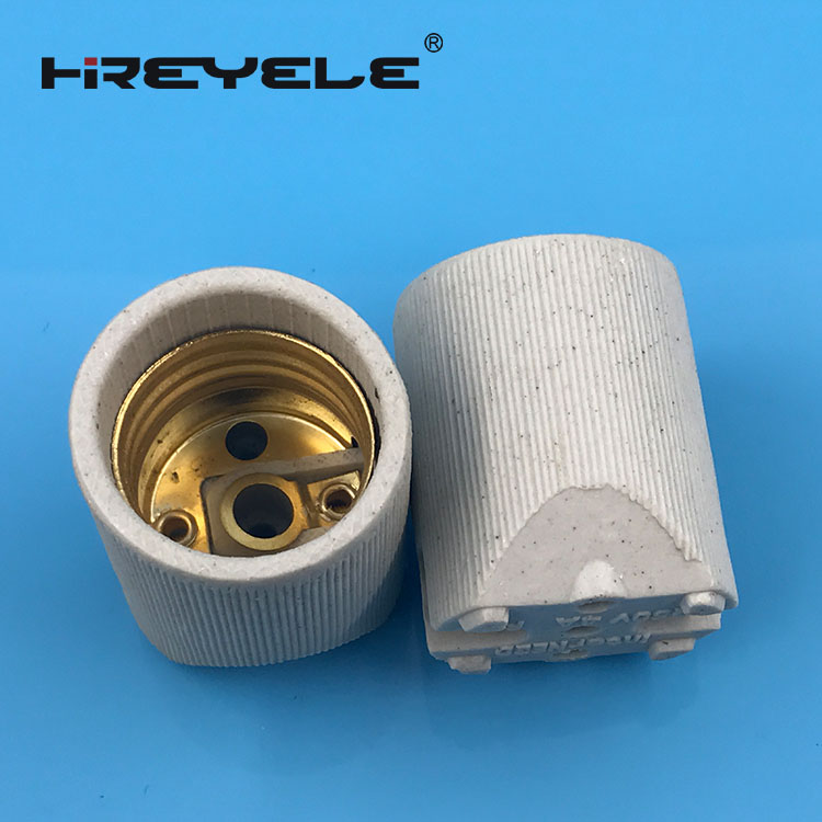 Brass Metal Porcelain Lampholder Socket E27