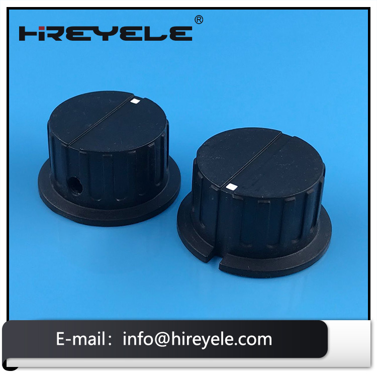 Plastic Audio Volume Knobs With Set Screw