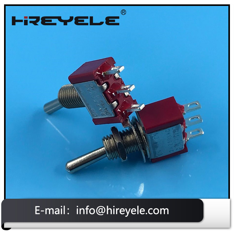 Momentary 3-Way SPDT Mini Toggle Switch Flat Lever for Guitar