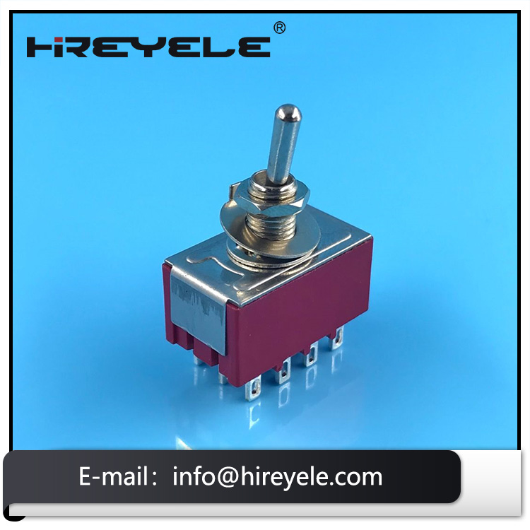 Mini Toggle Switch 4PDT 12Pin On-On Type