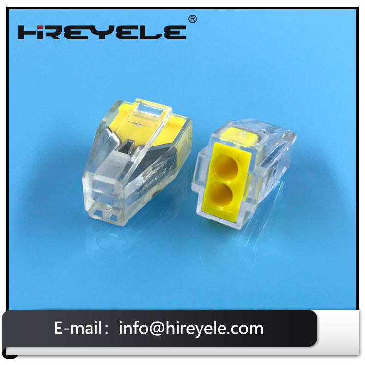 Equivalent Wago 773 series 2 Port Push Wire Connector For Junction Boxes