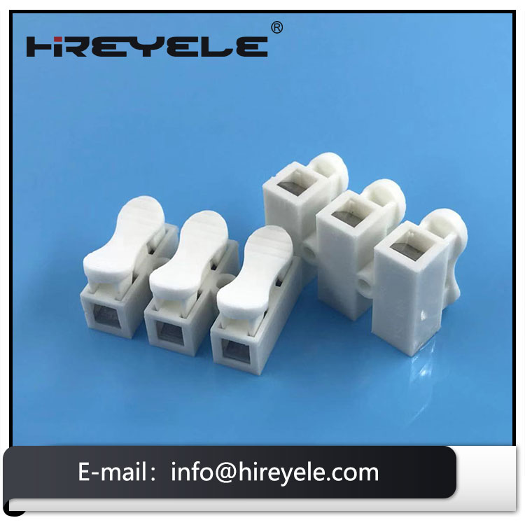 3 Pin Push Quick Connector Spring Clamp Terminal Block For Lighting Fixtures