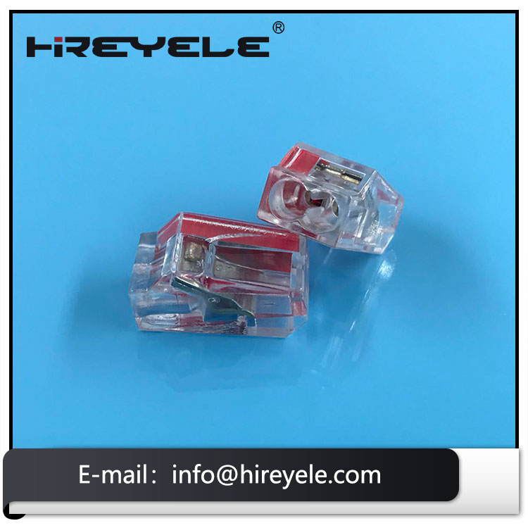 Red Push-In Wire Connector for Junction Boxes 2Poles