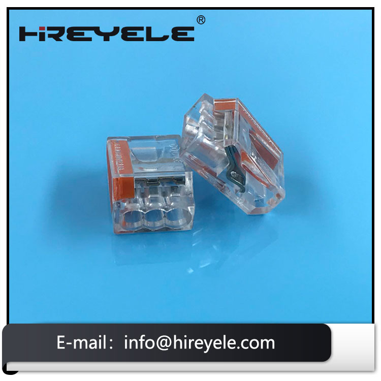 3-Port Pushwire Connectors For Lighting Fixtures