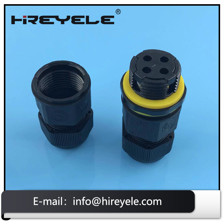 IP68 Screw Male Female Waterproof Cable Connector for Light Fittings