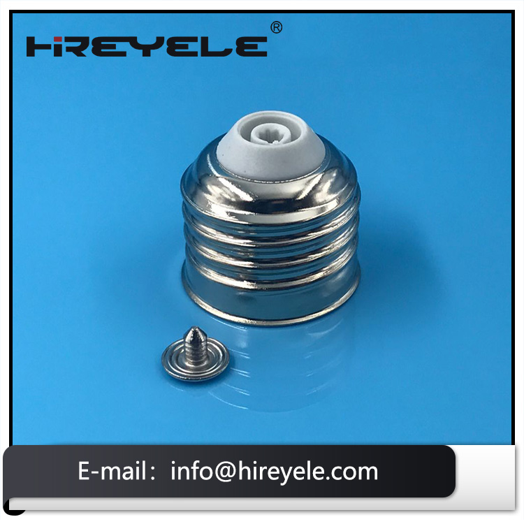 Wholesale No-welding Solder Free Metal E26 Lamp Cap With Cheap Factory Price