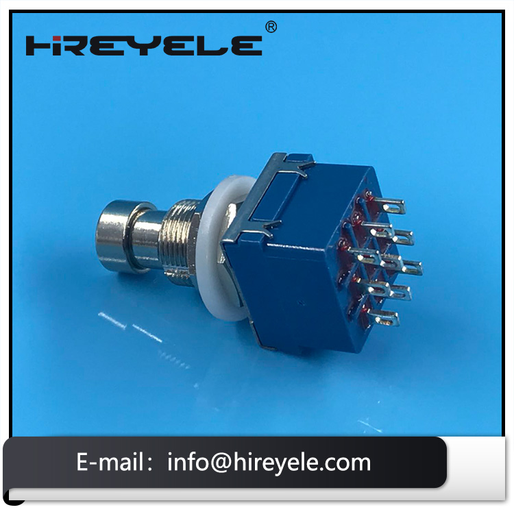 3PDT Momentary Stomp Foot Switch True BypassZhejiang Hairui Electronic Technology Co., Ltd