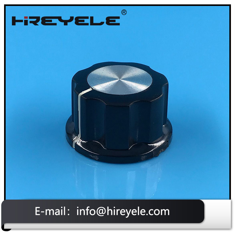 BOSS Style Fluted Potentiometer Knob With Aluminum Cap