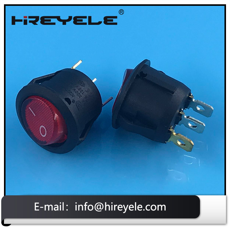 2Pin On Off Miniature 12V Round Rocker Switch