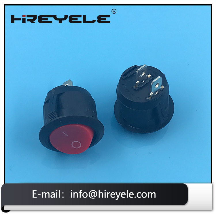 SPST ON OFF KCD1 Mini Round Rocker Switch