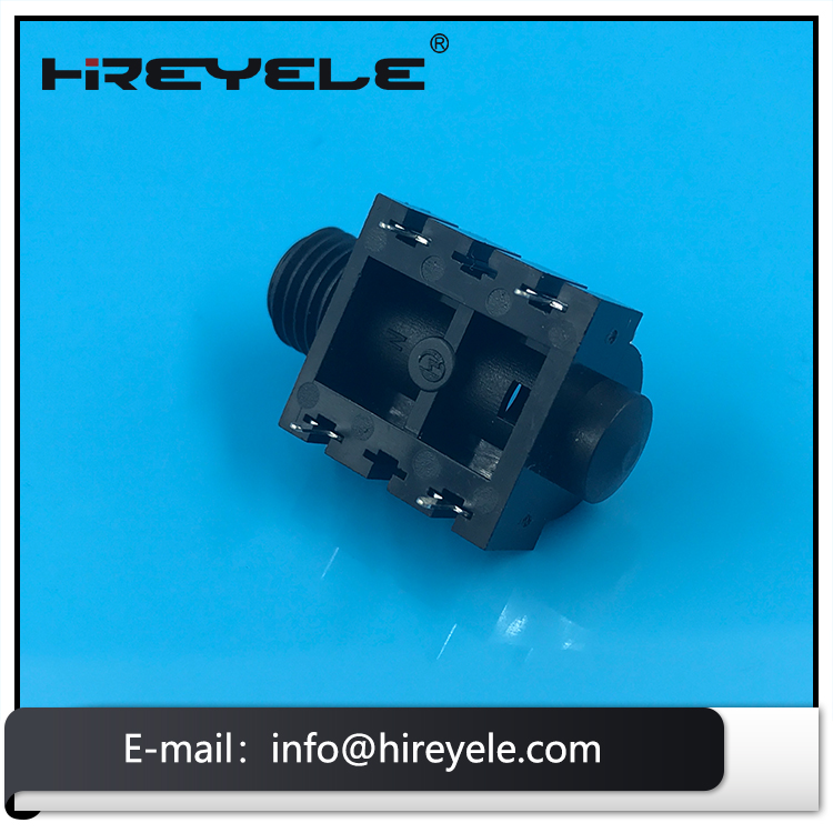 PCB Mount 6.35mm Audio Stereo Jack Socket For Amplier
