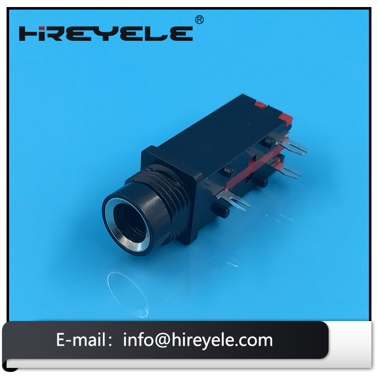 6.35mm Female Stereo Microphone Jack Types for Power Amplifier and Sound
