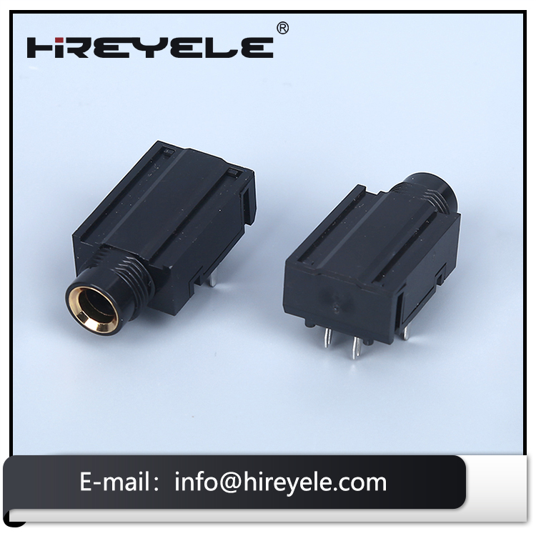 9 Pin 6.35 mm Vertical Stereo 1/4 Audio Jack Connector