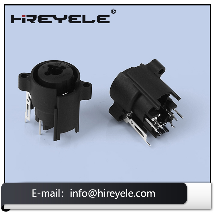 Male Female XLR Audio Combo Jack Connector For Amplier