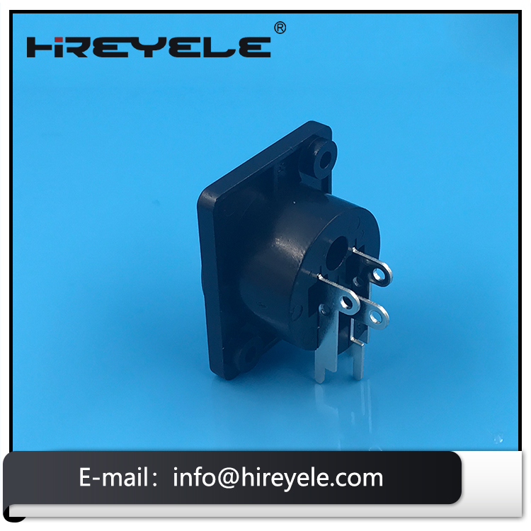 3 Pin Panel Mount Audio Female XLR Connector