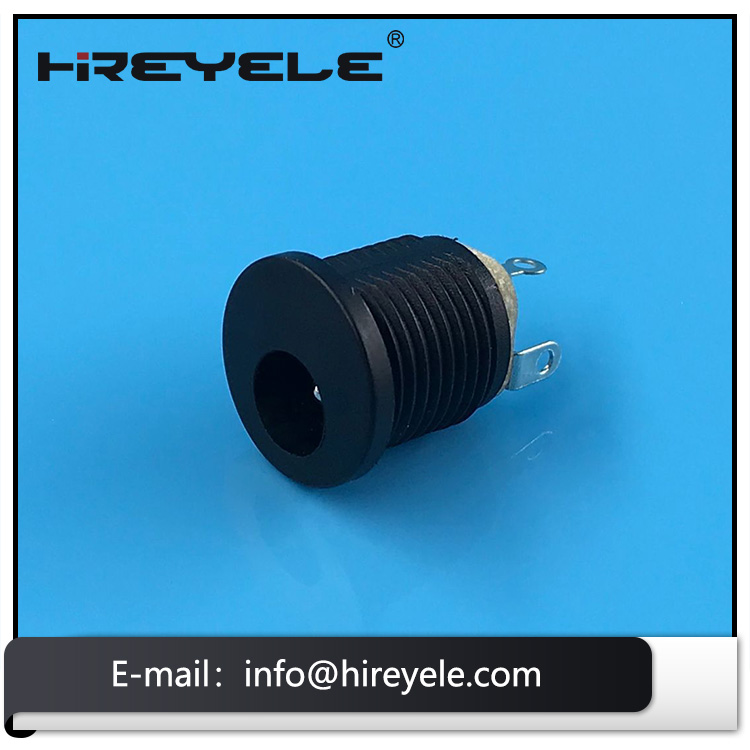 2.1mm 2.5mm Panel Mount Female 3 Pin DC Power Jack
