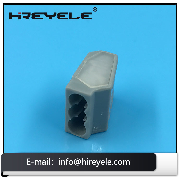 3 Pin Female Solder Wire Connector For Lighting Fixtures