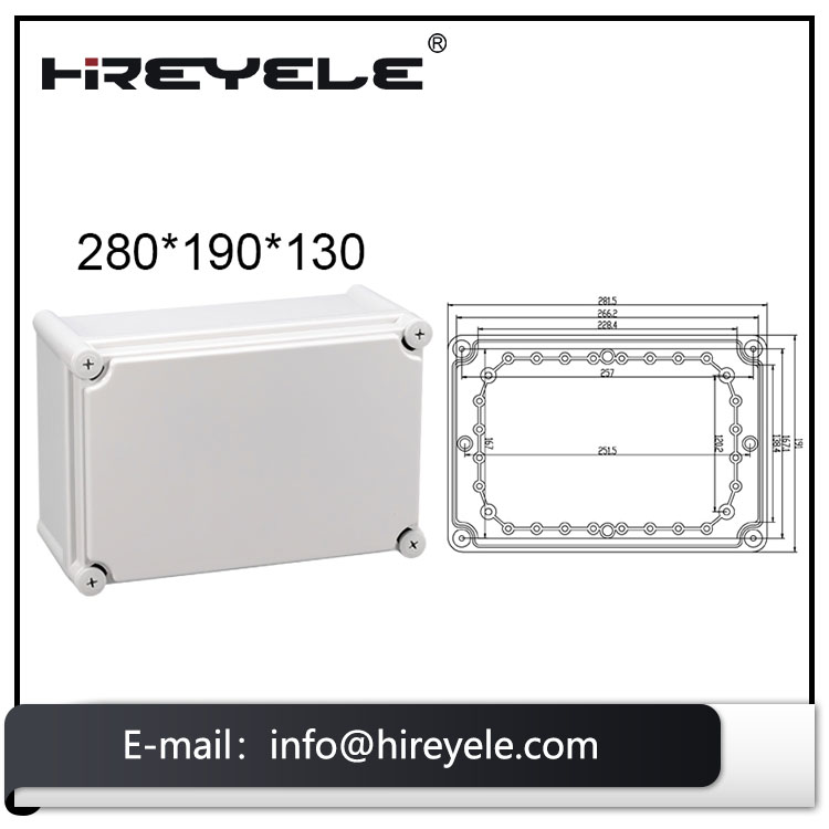 IP67 Distribution Plastic Box Din Rail Type Enclosure For Electronic Device