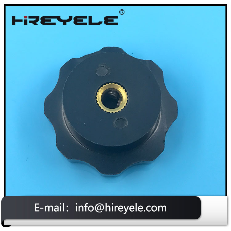 Thread Phenolic Fluted Knob With Brass Insert For Valves