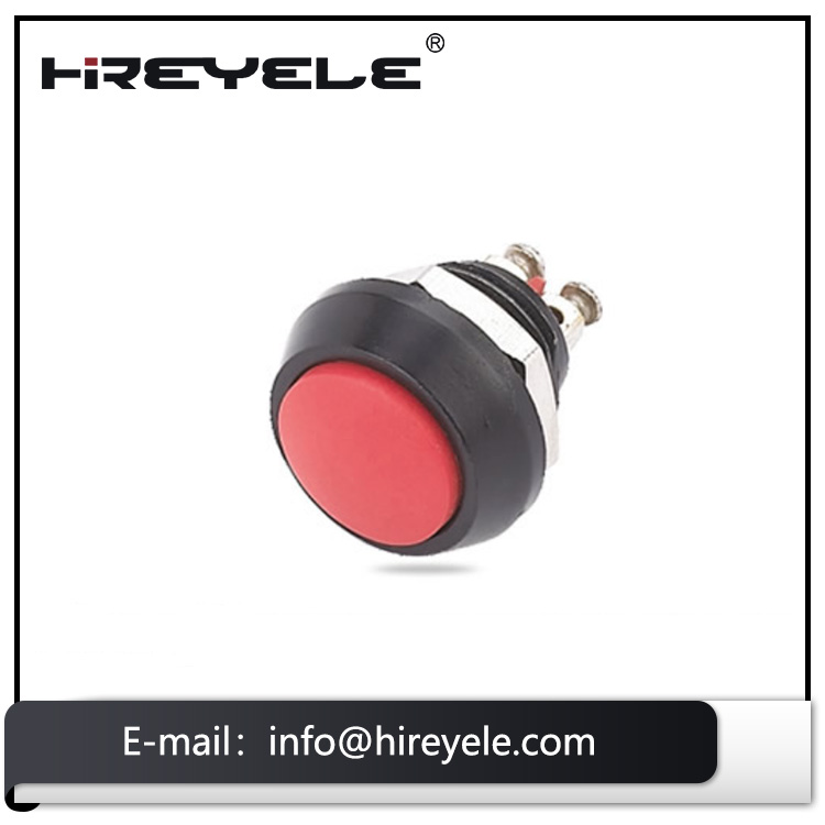 Hot wholesale IP65 waterproof 12mm led illuminated metal push button switch