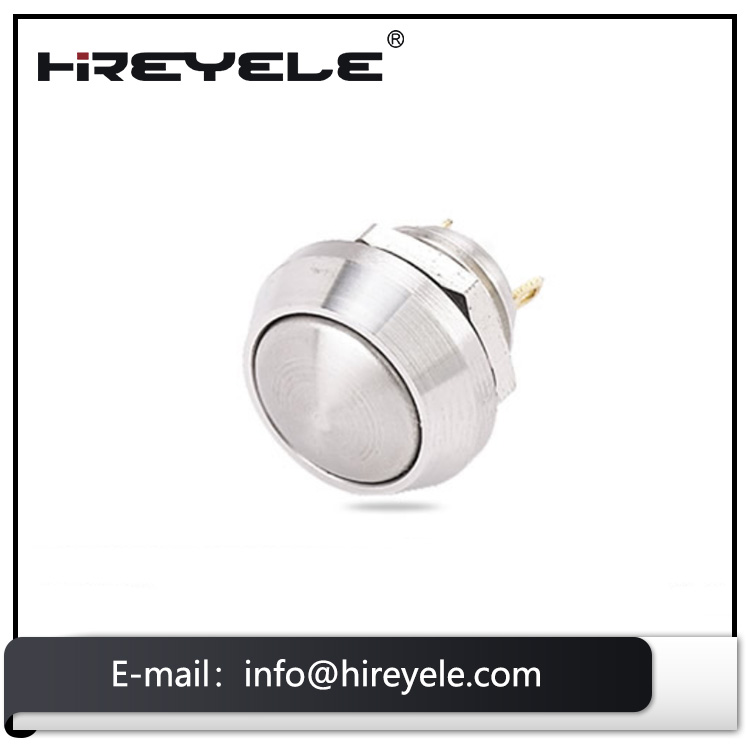China factory illuminated 12mm metal waterproof led self-locking momentary push button switch