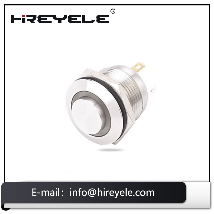 Factory directly 12mm Domed Waterproof Metal Momentary Push Button Switch