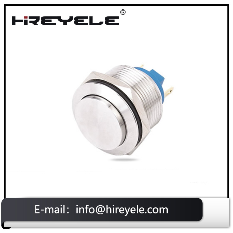 22mm mounting waterproof momentary led luminous metal push button switch