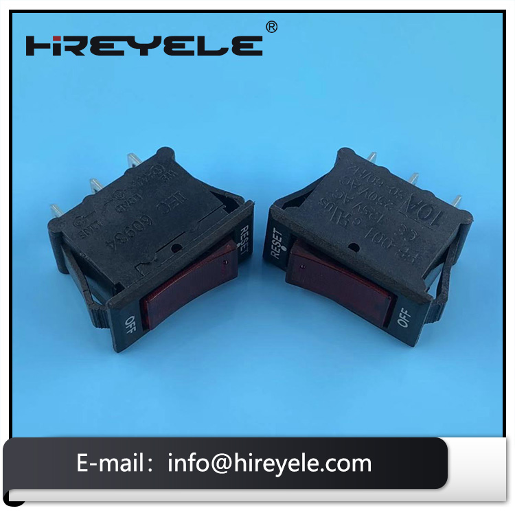 Wholesale reset off rocker switch circuit breaker t85 for extension wire socket